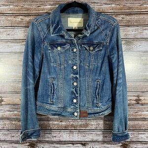 Anthropologie/Pilcro- Denim Button Front Jacket